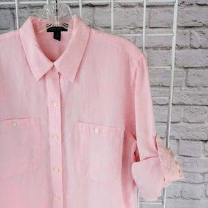 Ralph Lauren Tops - Pink Ralph Lauren 100% Linen Button Down Top
